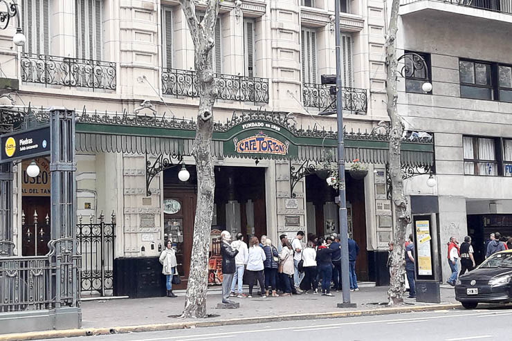 Line to enter Cafe Tortoni - The Top 18 Things to Do in Buenos Aires