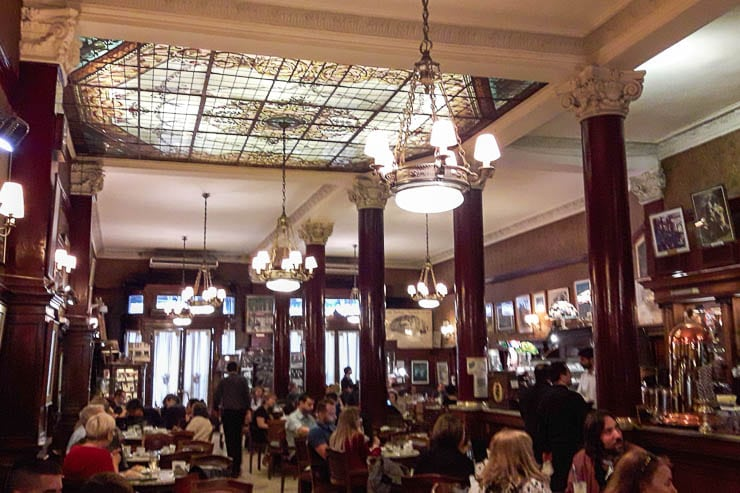 The interior of Cafe Tortoni - The Top 18 Things to Do in Buenos Aires