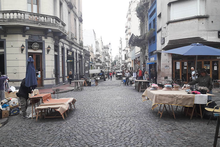 Early morning at the San Telmo Sunday Market - The Top 18 Things to Do in Buenos Aires