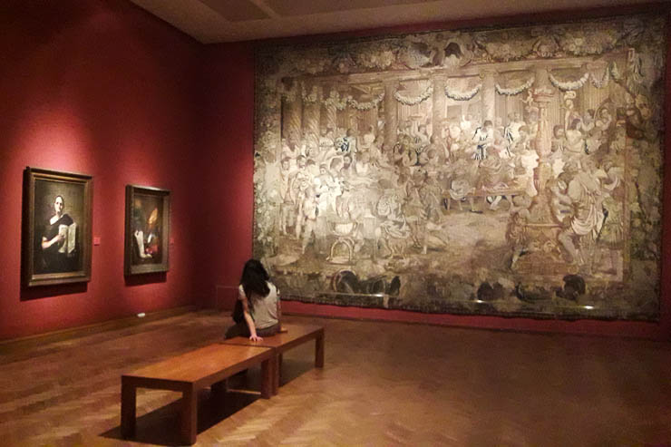 Taking a break in the massive Bellas Artes Museum - The Top 18 Things to Do in Buenos Aires