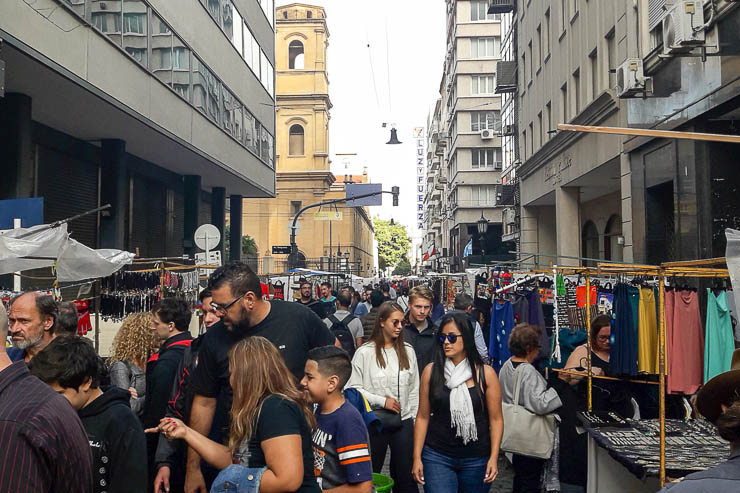 BUSY streets during the Sunday market - The Top 18 Things to Do in Buenos Aires