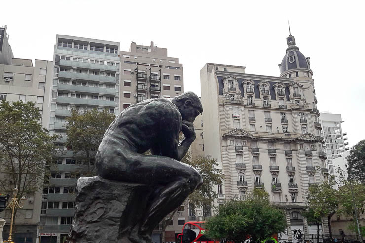 Thinking Man contemplating how awesome Buenos Aires is - The Top 18 Things to Do in Buenos Aires