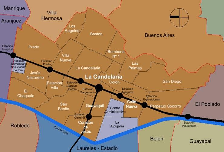 Medellin Centro Map
