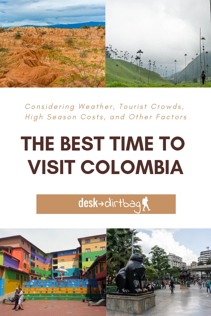 When is the Best Time to Visit Colombia? There are some important considerations that you should make about weather, tourist crowds, high season costs, and more.