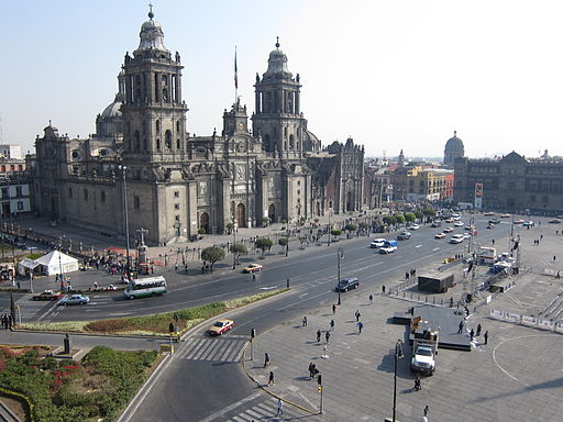 best Mexico City hostels Zocalo Cathedral