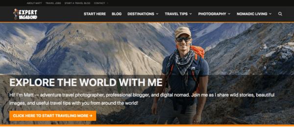 top travel bloggers to follow expert vagabond