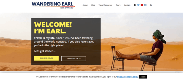 top travel bloggers to follow wandering earl