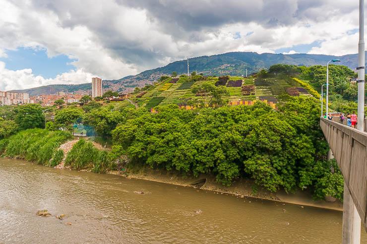 Medellin's trash mountain, known as el Morro de Medellin as it is today