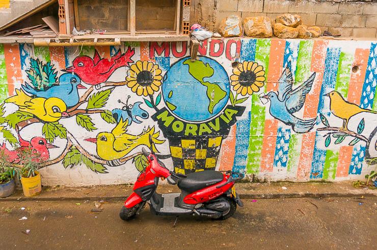 Mundo Moravia Medellin -- street art on this Medellin barrio tour