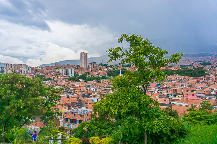 Views from atop the Morro de Moravia in Medellin