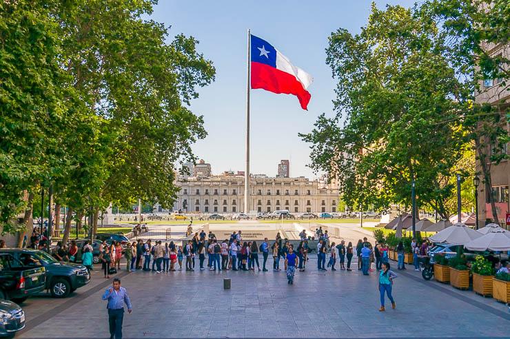 La Moneda Presidential Palace in Santiago Chile