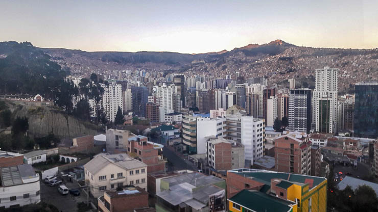 View of the La Paz Skyline - Things to Do in La Paz Bolivia