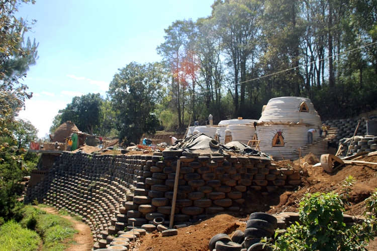 volunteering abroad building earthships