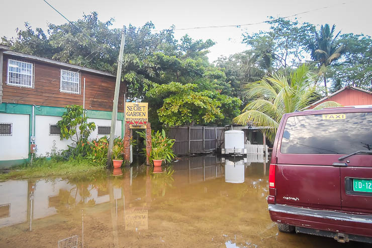 Flooding is not uncommon in Belize -- one things you should keep in mind when consider is Belize safe?