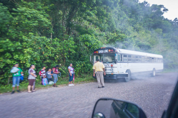 Is Belize Safe? Bus transport can be questionable, especially if your bus breaks down on the side of the road.