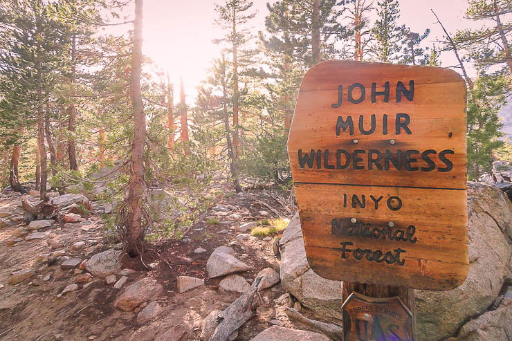 John Muir Wilderness Sign - Day Hike Essentials