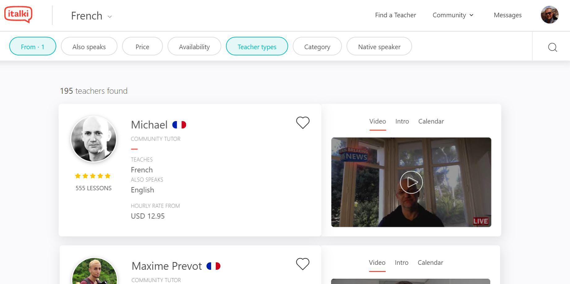 iTalki French