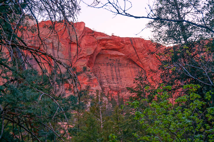 Kolob Arch in the less popular section of Zion National Park and an excellent day hike opportunity.