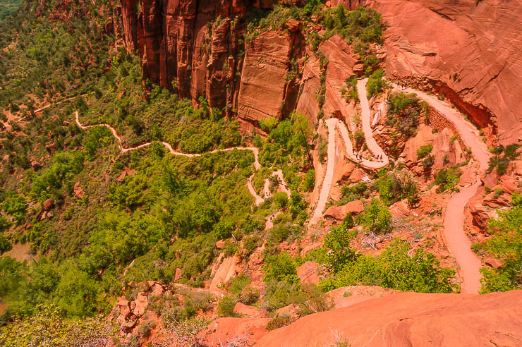 These are the infamous Walter's Wiggles on e way up to Angel's Landing, one of the best Zion National Park hikes