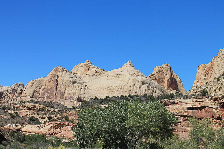 The famous Capitol Dome which helped give name to Capitol Reef National Park